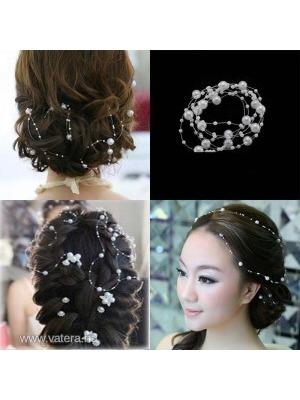 Esküvői menyasszonyi fehér gyöngyös hajdísz kiegészítő    lejárt 599731 338ae9f662