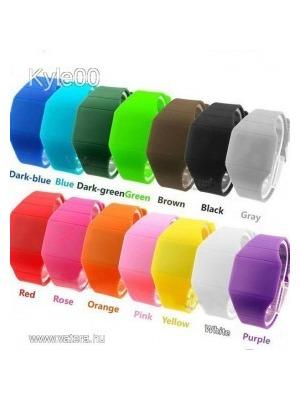Szilikon LED 14 szín Sport karóra óra női férfi Uniszex Fitnesz    lejárt  408758 b2098aade9