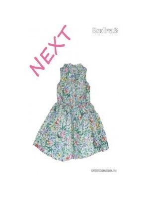1d4453f368 NEXT virágos-gombos-galléros ruha 110-es méretben (4-5 év) - Vatera,