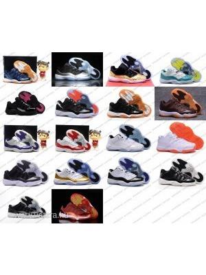 NIKE AIR JORDAN 11 XI LOW AJ Utcai Cipő Férfi 40-45 Kosaras Sneaker Garancia 85a175a257