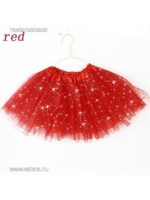 e2d91100b5 Gyerek bakfis tüll szoknya tütü balettszoknya csillámos piros << lejárt  694921
