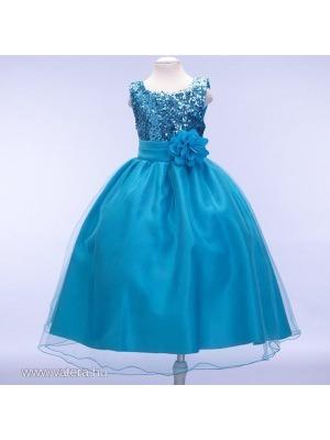 da9c2a980e kék flitteres alkalmi, koszorúslány ruha, kislány koszorúslányruha AZONNAL  << lejárt 682192