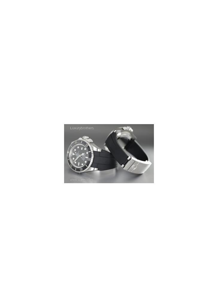 ÚJ! Ritkaság! Rolex Deepsea kaucsuk szíjas 9194debccc
