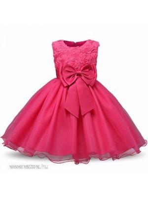 87138cb84b Gyönyörűszép koszorúslány , elsőáldozó, alkalmi kislány ruha PINK színben  110-es 3-4