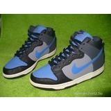 NIKE Dunk Hí szürke-kék bőr sportcipő 38 9dd4d8f866