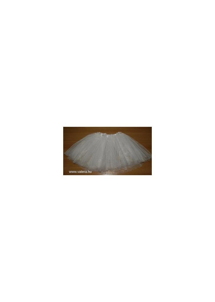 40a2379549 Tütü tüll szoknya balett FEHÉR KÉSZLETEN - Vatera, 990 Ft | #295635