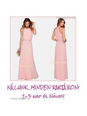 b22449030d PASTEL Pink nyári chiffon ALKALMI hosszú ruha koszorúslány-ruha combközépig  bélelt L utolsó, azonnal