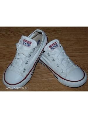 cc34f58c741f CONVERSE szép fehér kamasz uniszex tornacipő 26-os - Vatera, 5 490 Ft