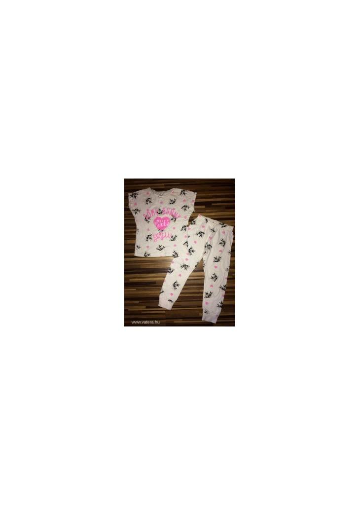F F 116-os cuki nyuszis pizsama szett kislánynak rengeteg aukció 1 659b64823b