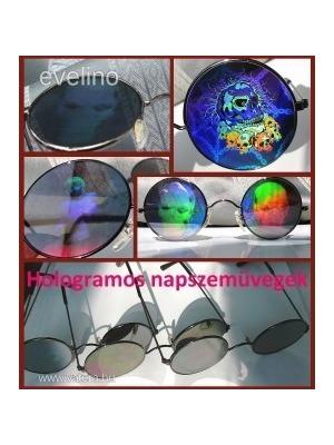 a0caa68c56 3D HOLOGRAMOS NAPSZEMÜVEG, Kerek,Vagány,Koponyás Szemüveg, John Lenon  Stílus, Harry
