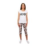 ACDC fehér póló strasszokal és rózsaszínes nadrággal női pizsama c3a785e18a