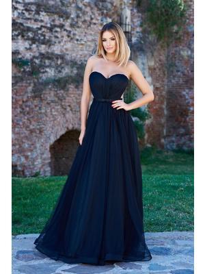Fekete Ana Radu alkalmi ruha tűll szivacsos mellrész - starshiners.hu aa404b1c90
