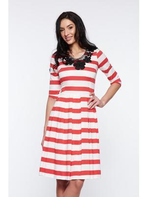 Piros Artista hétköznapi harang ruha kötött csipke enyhén elasztikus pamut     lejárt 606220 513f09075d