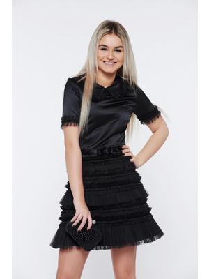 190586351b Fekete Ana Radu alkalmi harang ruha gyöngyös díszítéssel szatén anyagból <<  lejárt 143706