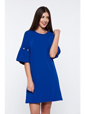 ef9879ec8d Kék bő szabásu ruha elegáns gyöngy díszítéssel - starshiners.hu, 9 990