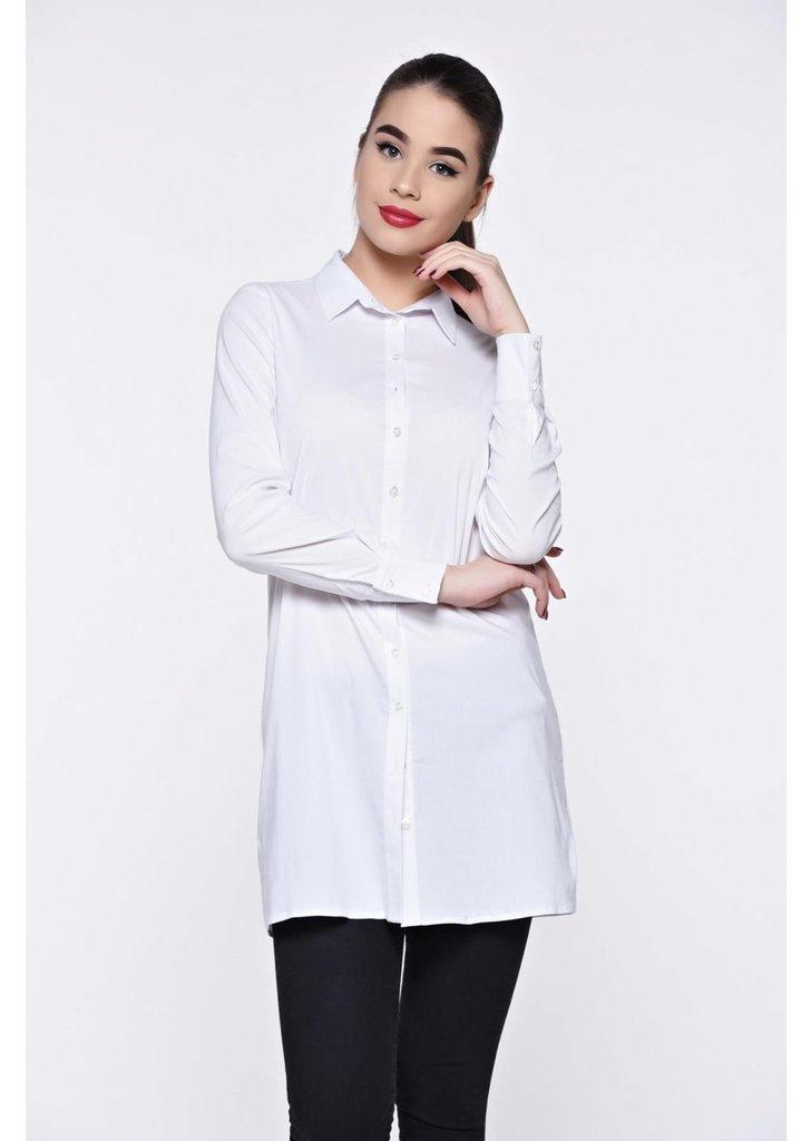 beafce6031 Fehér PrettyGirl női ing casual hosszú bő szabású - starshiners.hu, 10