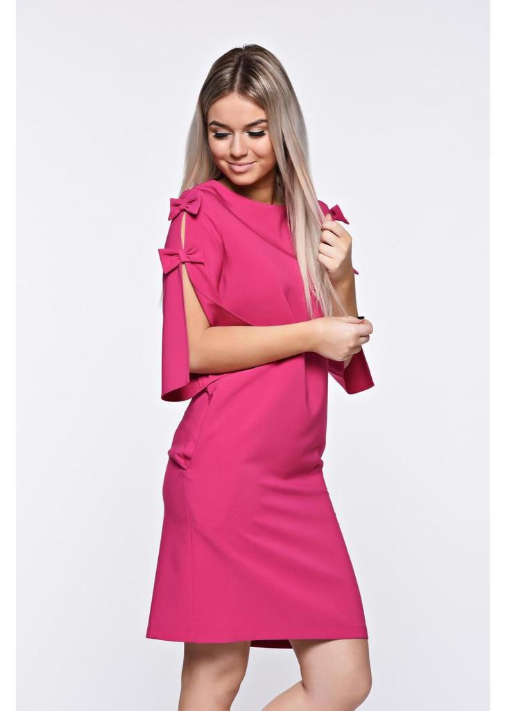 8e5204d83e Pink LaDonna elegáns bő szabás ruha kivágott ujjrész - starshiners.hu,