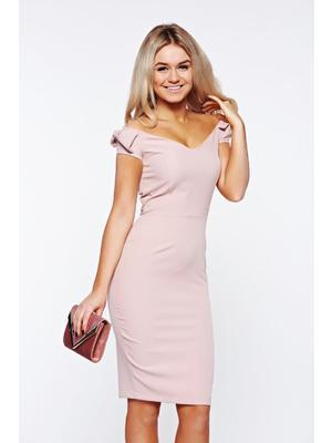 96ef005e38 Rózsaszínű StarShinerS elegáns ceruza ruha enyhén rugalmas anyagból <<  lejárt 705765