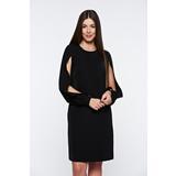 009d85b89f Fekete PrettyGirl elegáns bő szabású ruha kivágott ujjrész belső béléssel