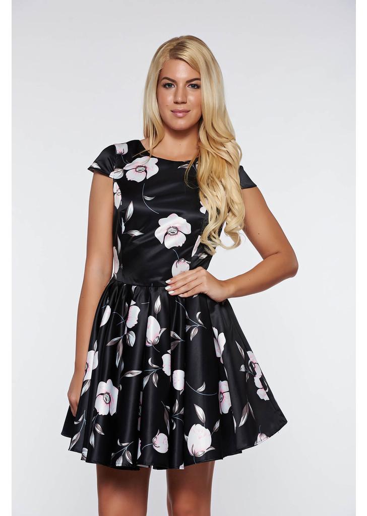 3fc0c1566e Fekete Artista alkalmi harang ruha szatén anyagból belső béléssel -