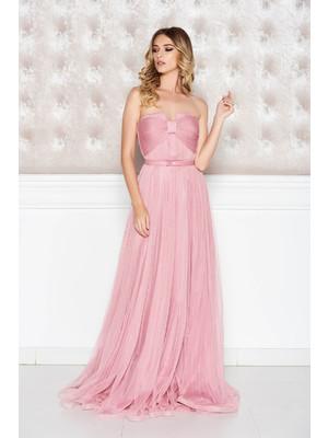 95fc3b4ff1 Rózsaszínű Ana Radu ruha belső béléssel tüll fűzős - starshiners.hu,