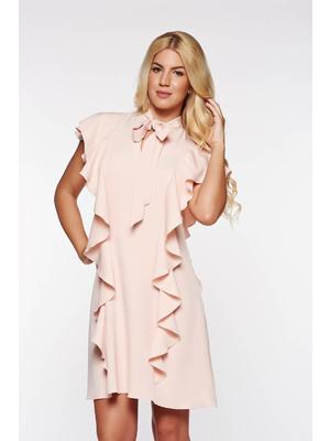 cac5881f18 Rózsaszínű PrettyGirl elegáns a-vonalú ruha rugalmas és finom anyag fodros  << lejárt 893164