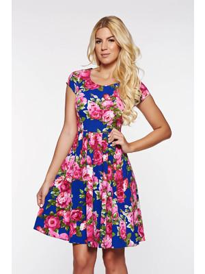 a8bd5efff7 Kék PrettyGirl hétköznapi harang ruha rugalmas puha anyag -