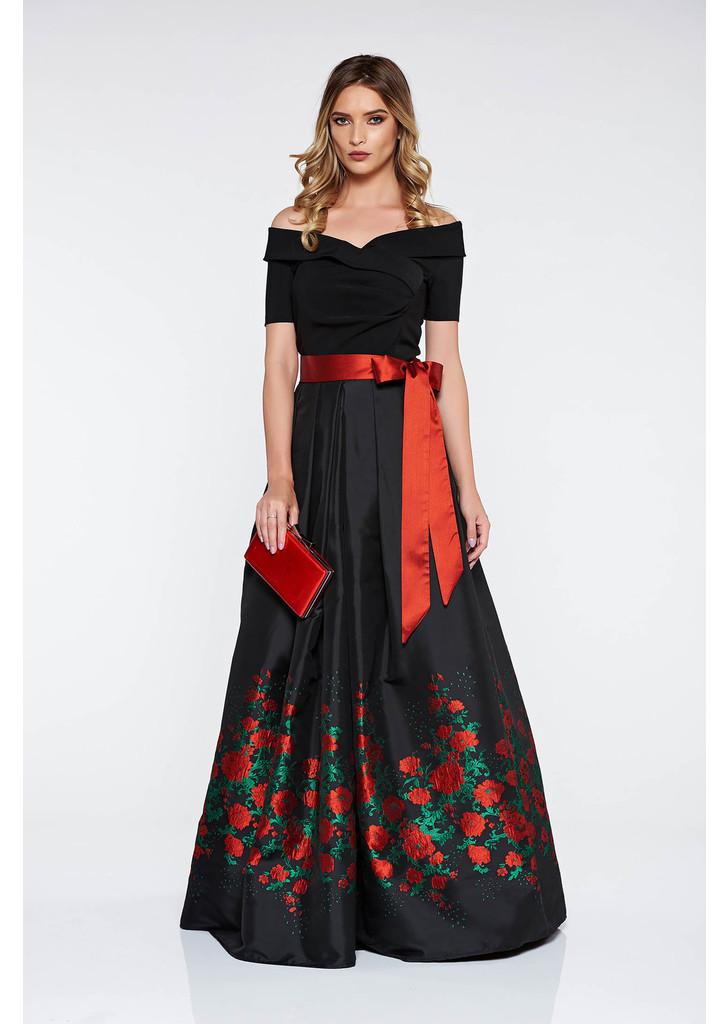 Fekete Artista alkalmi harang ruha szatén anyagból belső béléssel c243c19191