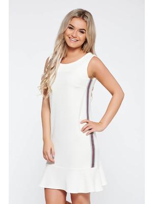 cc5400da53 Fehér StarShinerS casual ruha egyenes szabás rugalmas anyag fodros <<  lejárt 575472