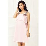 Rózsaszínű StarShinerS alkalmi bő szabás ruha fátyol anyag hímzett  betétekkel flitteres díszítés e16de77404