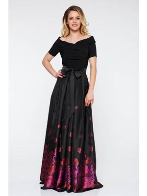 Lila Artista alkalmi harang ruha szatén anyagból belső béléssel virágmintás  díszítéssel    lejárt 584402 6995f16488