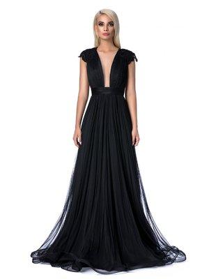 Fekete Ana Radu alkalmi harang ruha gyöngyös díszítés hímzett betétekkel  szivacsos mellrész ce680ef274