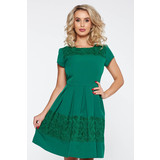 05b9b456c1 Zöld elegáns harang ruha enyhén elasztikus szövet csipke díszítéssel <<  lejárt 474205