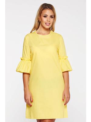 79e949465c Sárga StarShinerS casual bő szabású ruha rövid nem elasztikus pamut <<  lejárt 778859