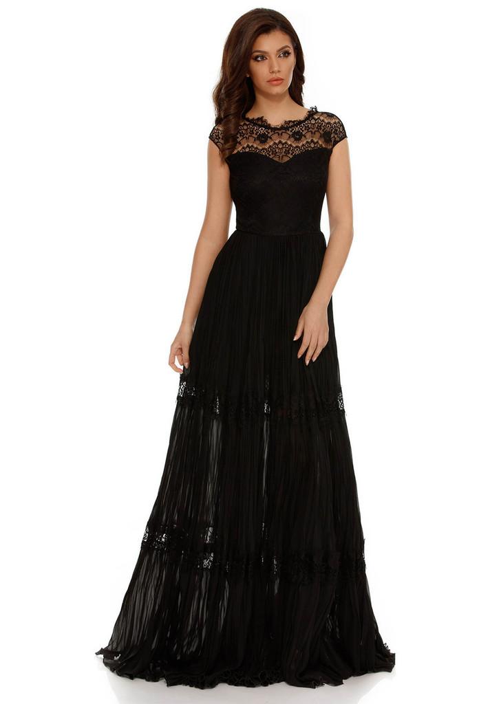 Fekete alkalmi harang ruha csipke díszítéssel rakott - starshiners.hu cf88317d97