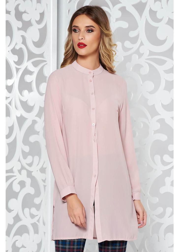 6b36c35886 Rózsaszínű női ing elegáns bő szabású enyhén áttetsző anyag -
