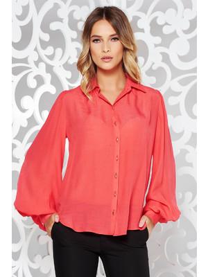b9ecc462c9 Korall PrettyGirl pamutból készült női ing hosszú ujjú bő szabású << lejárt  957955