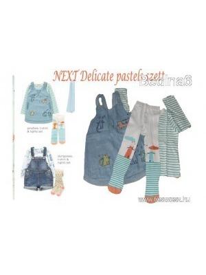 57ea73114b Újszerű NEXT Delicates Pastels szett (póló, ruha, harisnya)104-es méretben