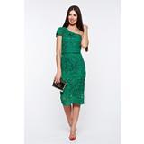 b4c0c3a13d Zöld alkalmi ceruza ruha csipkés anyag belső béléssel << lejárt 573357