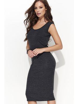 e255026d54d6 Sötétszürke Folly ruha casual ujjatlan midi pamutból készült << lejárt 94452