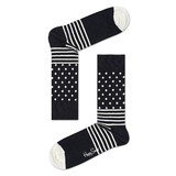 Happy Socks - Zokni Black & White (4 darab)