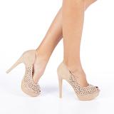 Carla bézs női cipő sarokkal    lejárt 2160 08ece7bc29