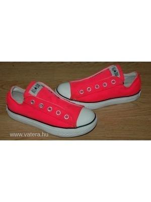 660c18f32e87 CONVERSE All Star neon rózsaszín fűző nélküli gumis lányka tornacipő 29-es