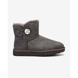 UGG Mini Bailey Button Bling Hótaposó Szürke << lejárt 348606