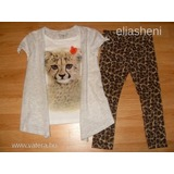 Leopárdos póló+next leggings 104-110 << lejárt 670514