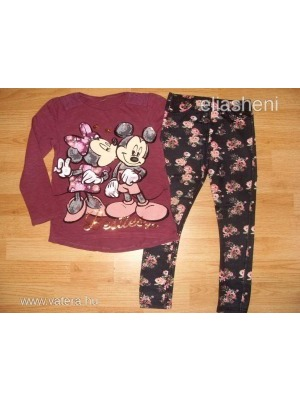 Disney Minnie egeres felső+leggings 116-122 << lejárt 350335