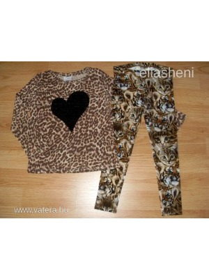 Next leopárdos felső+H&M leggings 104-110 << lejárt 205272