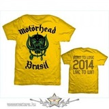 Motorhead - World Cup Brazil Mens Yellow T Shirt. MHEADTEE26MY. import zenekaros póló << lejárt 809751