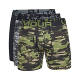 "Under Armour Charged Cotton® 6"" Boxeralsó 3 ks Fekete Zöld Szürke << lejárt 538488"