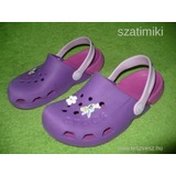 Crocs Electro lila papucs 33-as